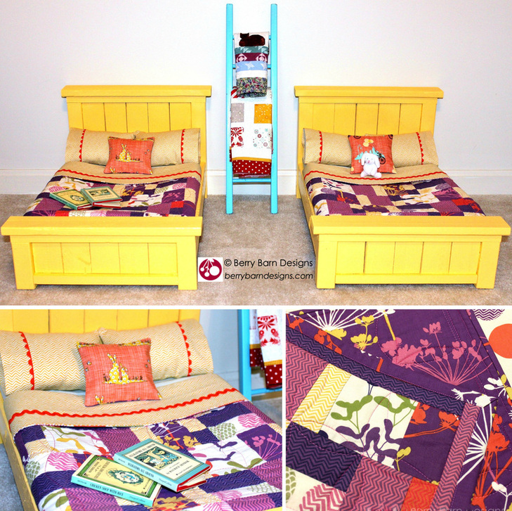 Summer Sun doll quilts & bedding | Berry Barn Designs