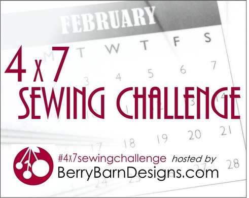 #4x7sewingchallenge hosted by Berry Barn Designs