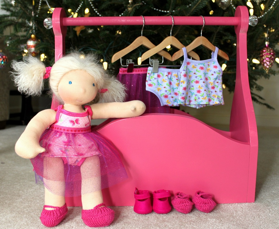 Doll clothing rack & DollysFavorite1 doll clothes | Berry Barn Designs blog