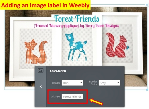 How to label a blog image in Blogger | Berry Barn Designs
