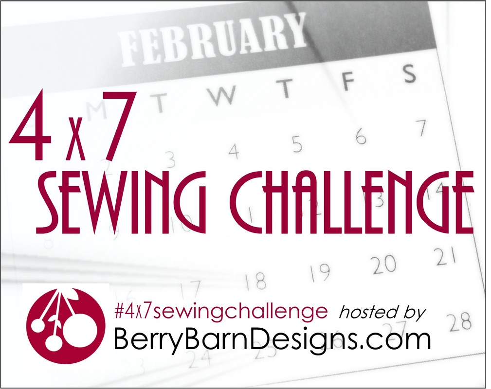 4x7 Sewing Challenge at Berry Barn Designs #4x7sewingchallenge