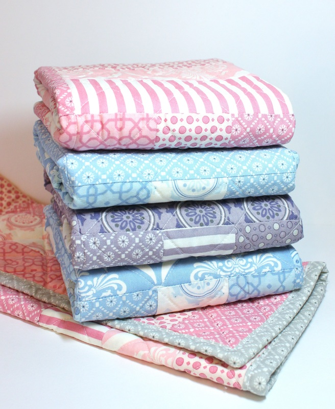 Angel baby quilts {BerryBarnDesigns.com}