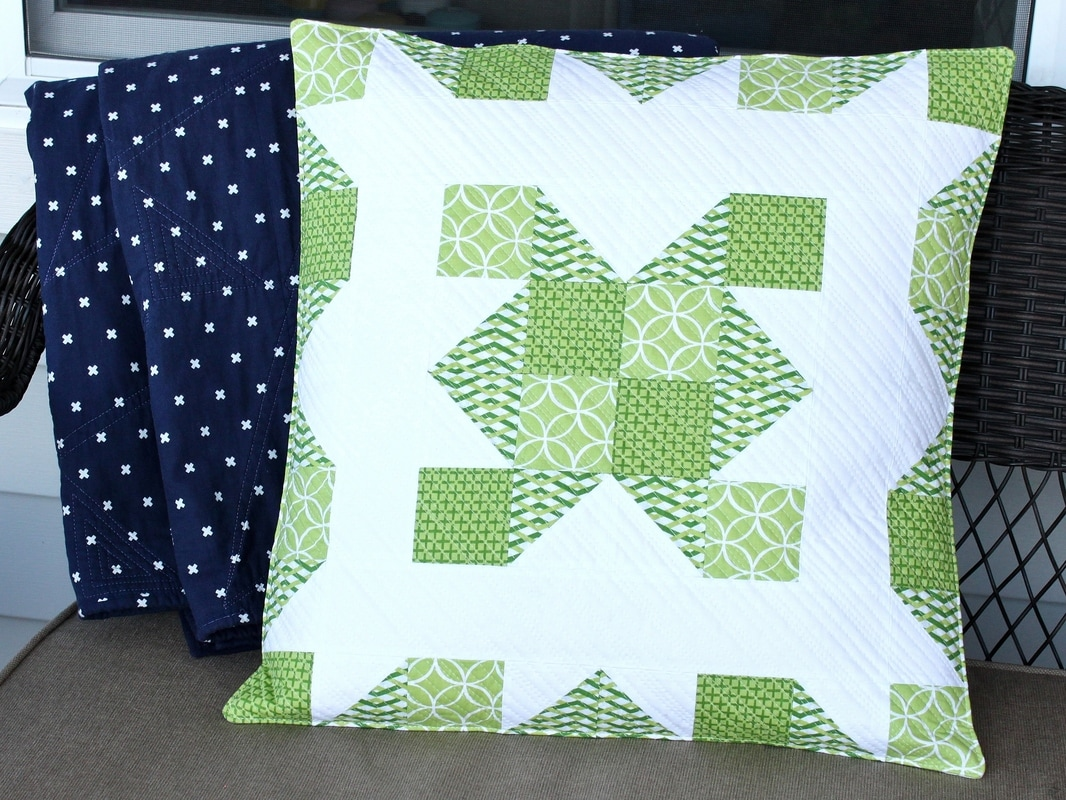 2017 Pantone Quilt Challenge greenery pillow cover {Sarah Nunes @BerryBarnDesigns}