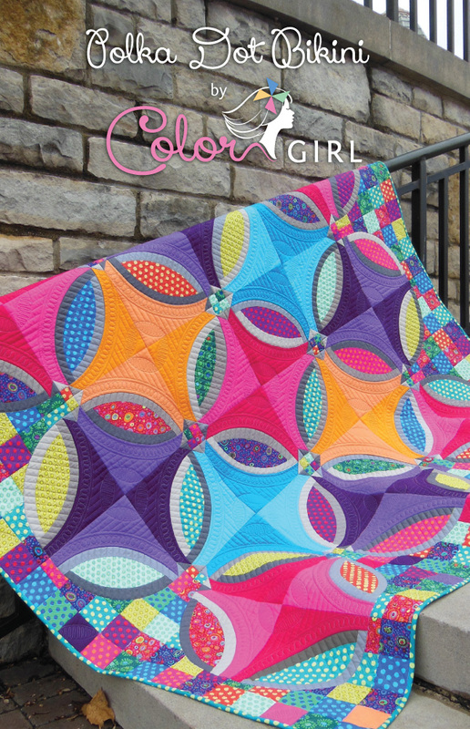 Polka Dot Bikini by Color Girl Quilts | Berry Barn Designs blog