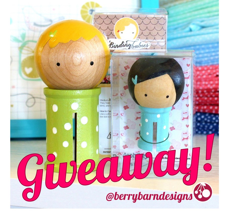 Tuesday Treats Giveaway at BerryBarnDesigns.com - Binding Babies!