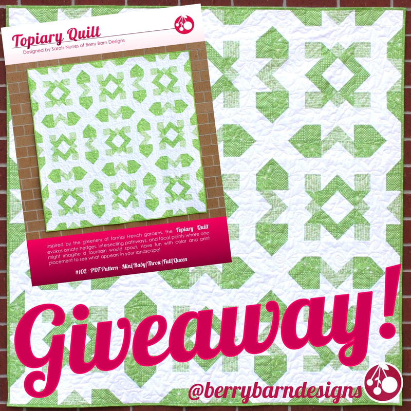Tuesday Treats Giveaway: Topiary Quilt at Berry Barn Designs