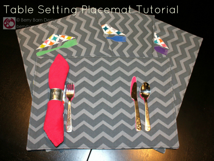 Table Setting Placemat tutorial | Berry Barn Designs blog