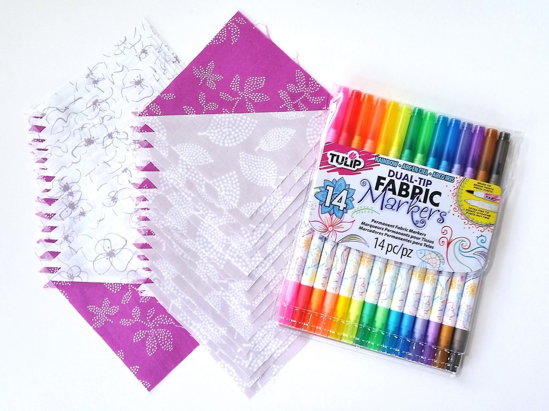 HSTs & fabric markers for quilt labels {Sarah at BerryBarnDesigns.com}