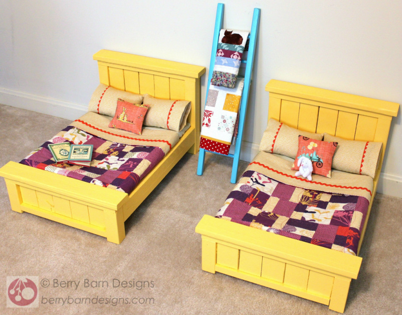 Summer Sun doll bedding | Berry Barn Designs blog