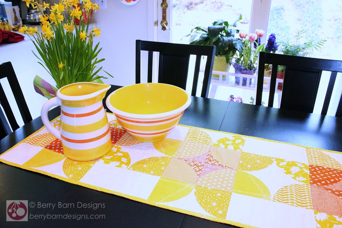 Daffodil Days Table Runner {by Sarah of Berry Barn Designs}