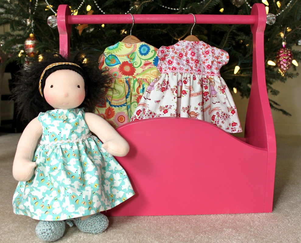 Doll clothing rack & Molly's Playground doll clothing | Berry Barn Designs blog