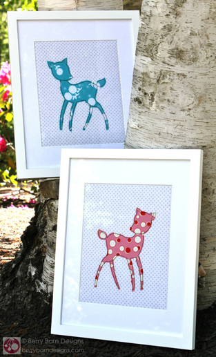 Forest Friends {Framed Nursery Applique} Tutorial by Berry Barn Designs for FWFS