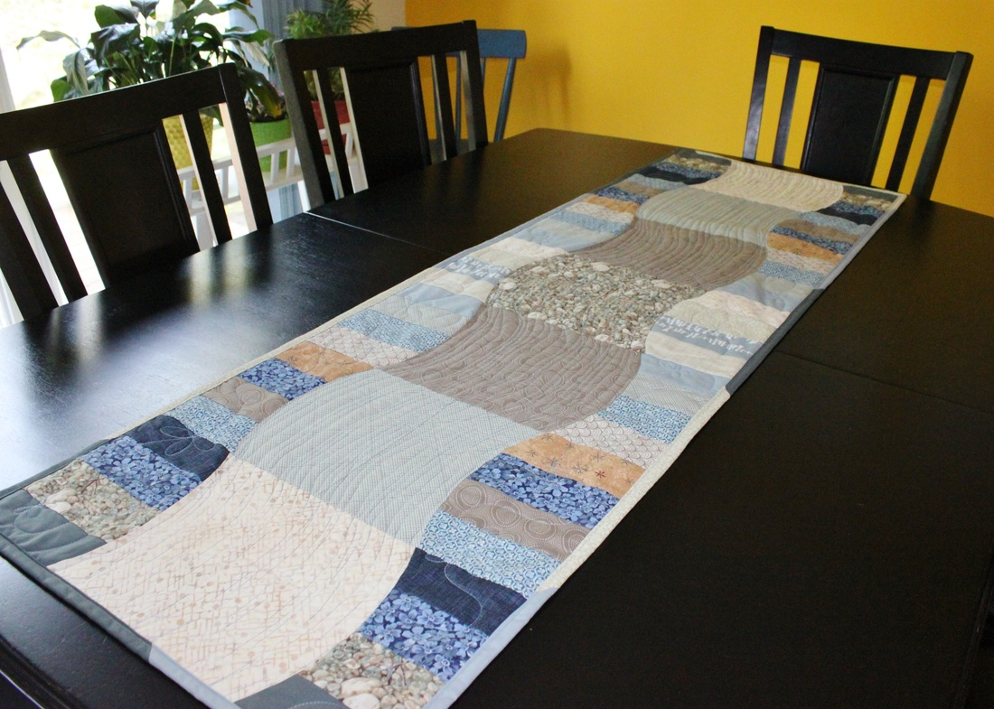 Green Tea table runner {Berry Barn Designs}