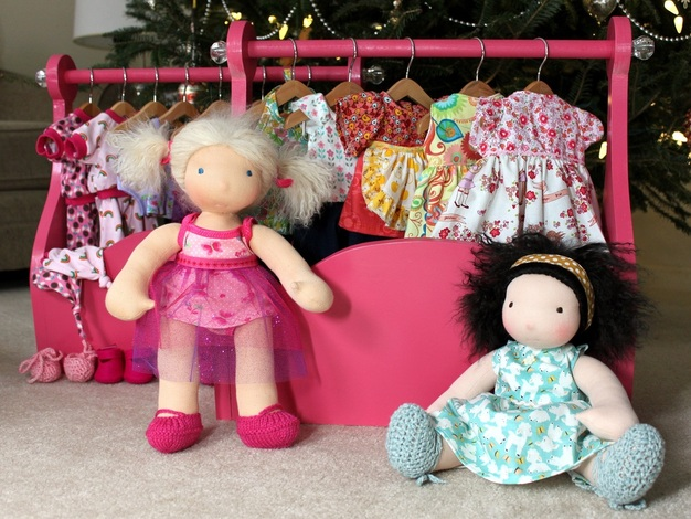Doll clothing rack & Oh Juniper! dolls | Berry Barn Designs blog