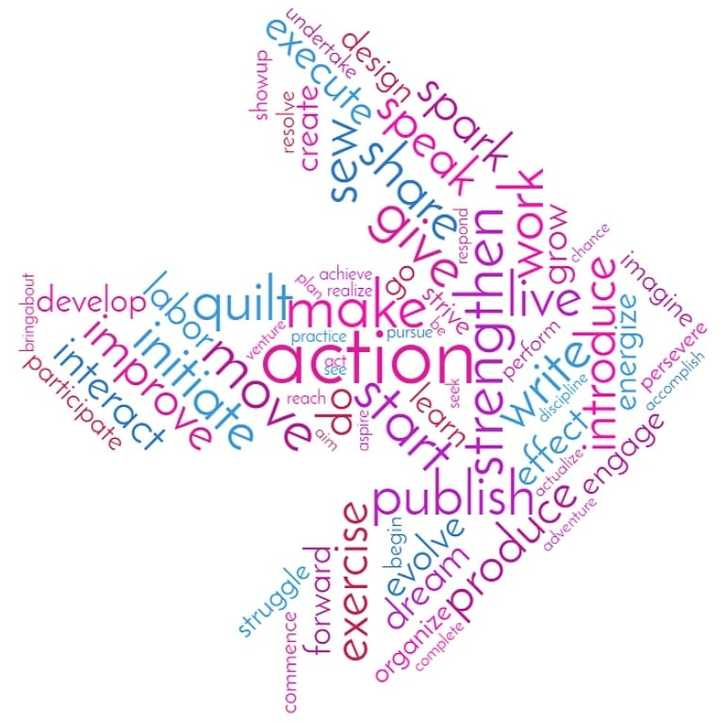 Word of the Year: Action blog post {Sarah Nunes @BerryBarnDesigns} WordClouds.com word web generator