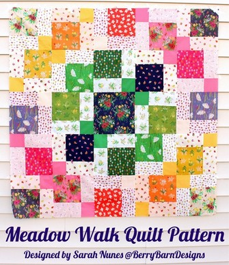 Meadow Walk Quilt Pattern by Sarah Nunes of BerryBarnDesigns.com