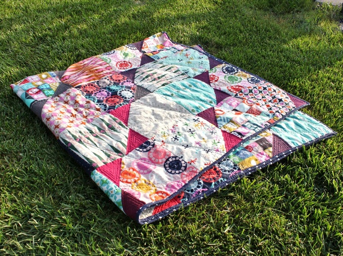 Family Jewels throw quilt {Sarah at Berry Barn Designs}