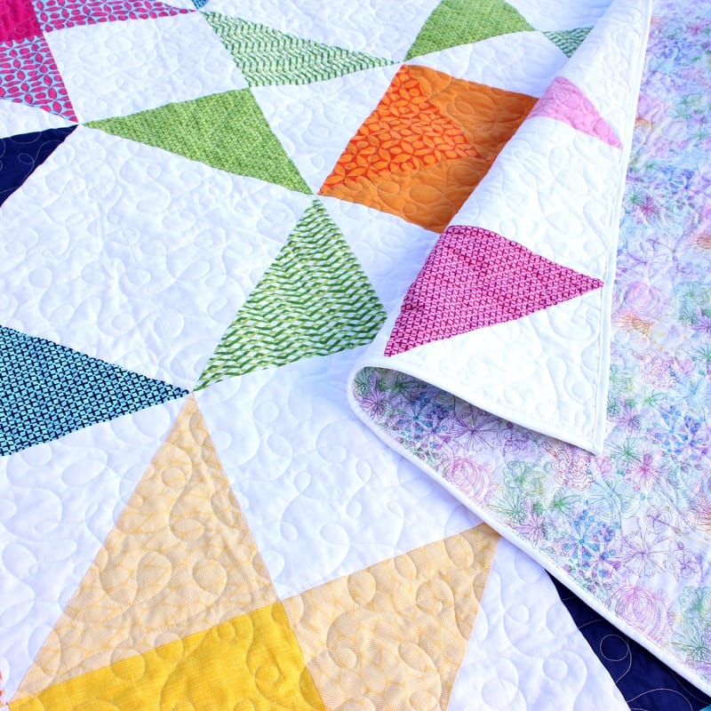 Love for a Neighbor throw quilt - Moda's Love LayerCake Pattern {Sarah @BerryBarnDesigns}