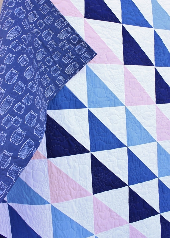 Hydrangea quilting detail from